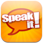 Sample Students with Special Needs app icon: Speak It!