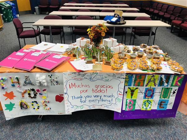 Board Appreciation Week table