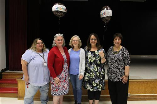 2018-19 retirees at the annual retiree reception