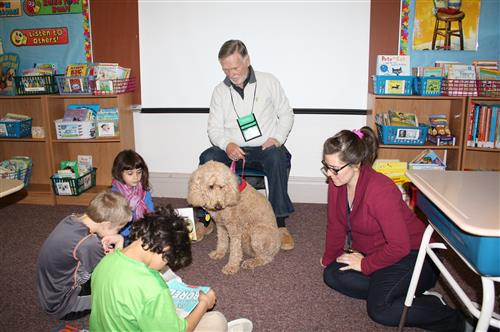 Therapy dog brings comfort and support to Bird/Morgan students & staff