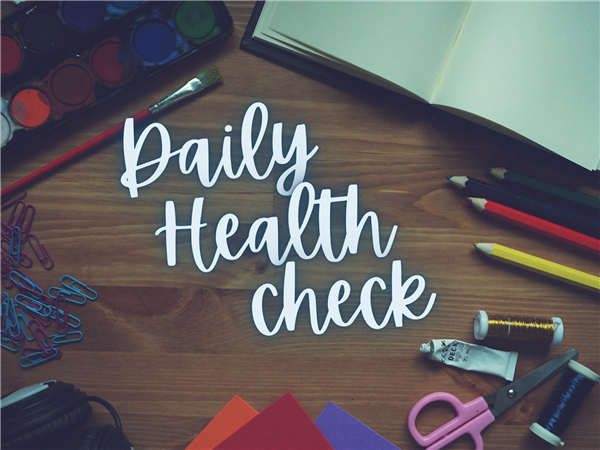 desktop with words daily health check