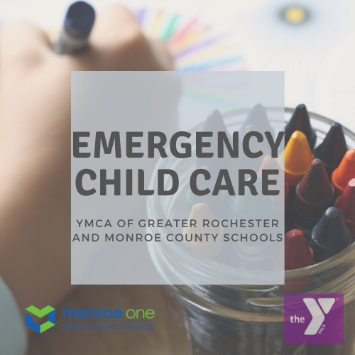picture of crayons with words about emergency child care